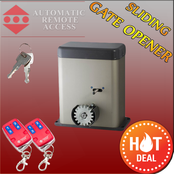 Sliding Gate Motor Opener , 2 x Remotes and 2 x Release Keys