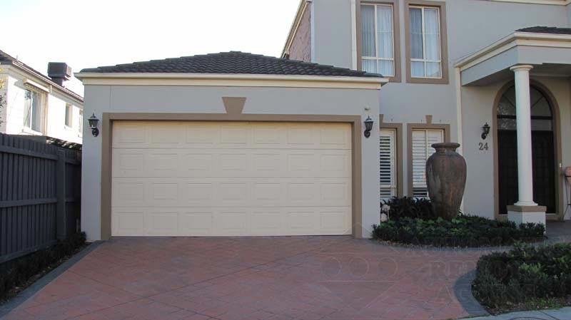 Classic Cream Sectional Garage Doors
