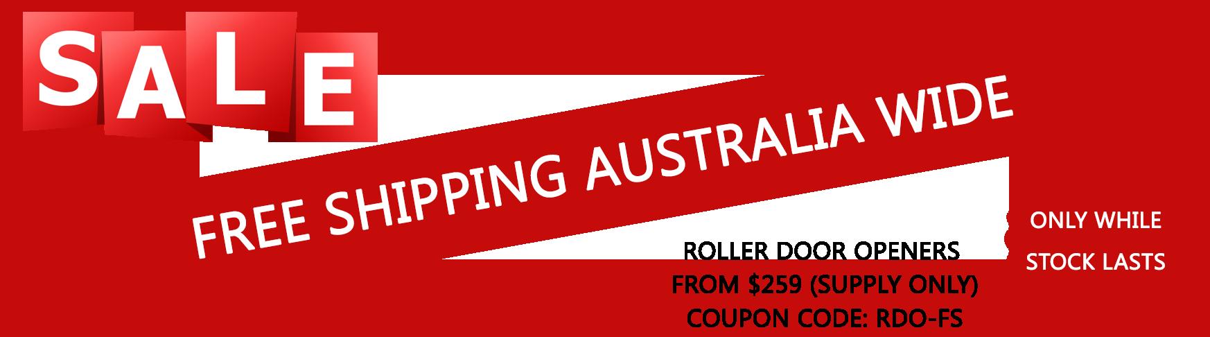 Roller garage door openers special offer- free shipping Australia