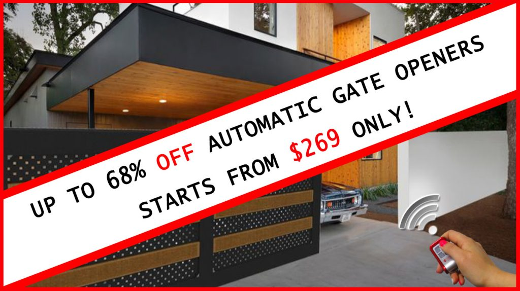 The best automatic gate openers motors electric gates for Best electric gate motors