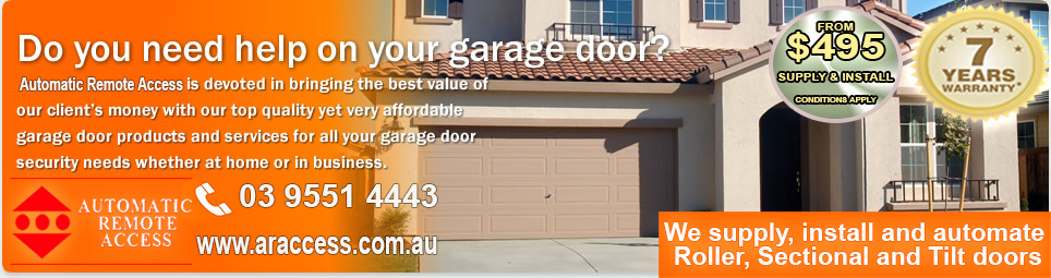 Garage Doors Installation Service Repairs Automation