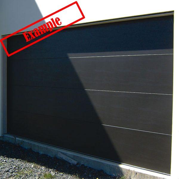 ARA Insulated SectionalPanel Garage door - Monument Color
