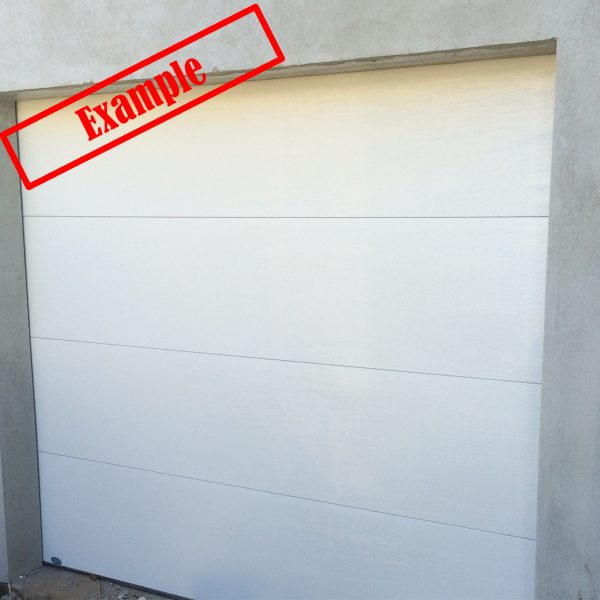 ARA Insulated SectionalPanel Garage door - Surfmist Color