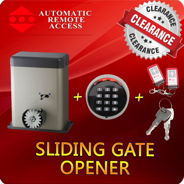 Sliding Gate Opener with Wireless Keypad