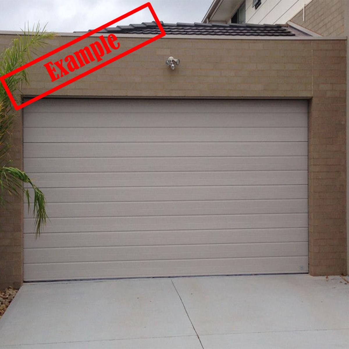 Steel Line Sectional Panel Garage Door Classic Cream