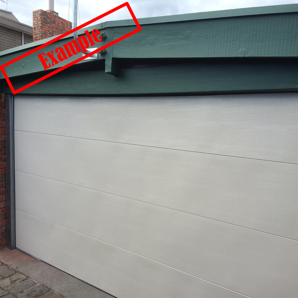 Steel Line Sectionalpanel Garage Door Surfmist Color 2230mm X