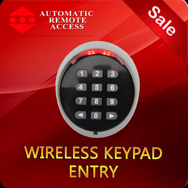 Wireless keypad entry