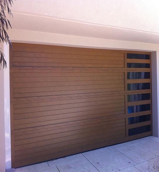 Custom garage door neo style