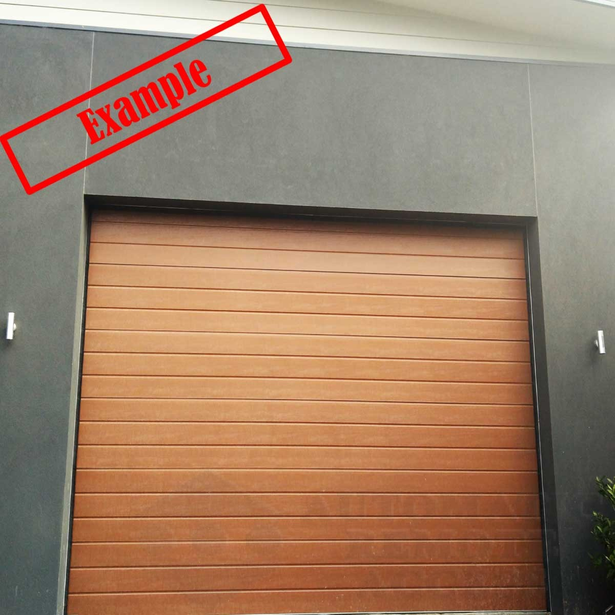 Steel Line Sectional Panel Garage Door Classic Cedar