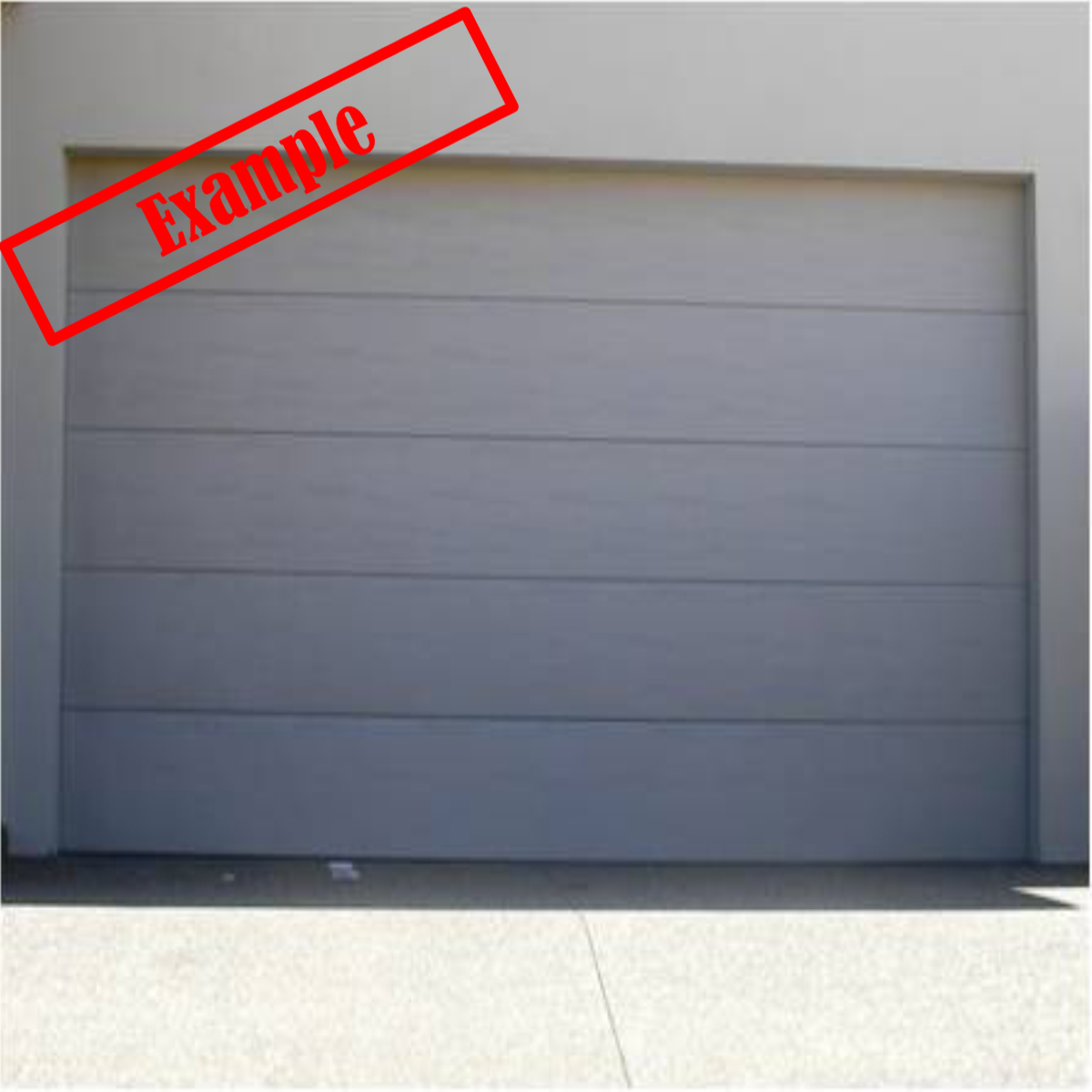 Steel Line Sectional Panel Garage Door Shale Grey Color