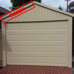 Paperbark Sectional Garage Door Ranch Style